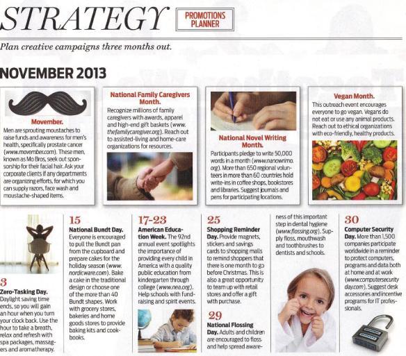 November Promotion Planning